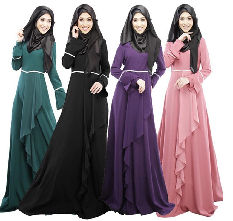 Hot Selling Islamic Clothing Muslim Women Dress Abaya Fashion Long ...