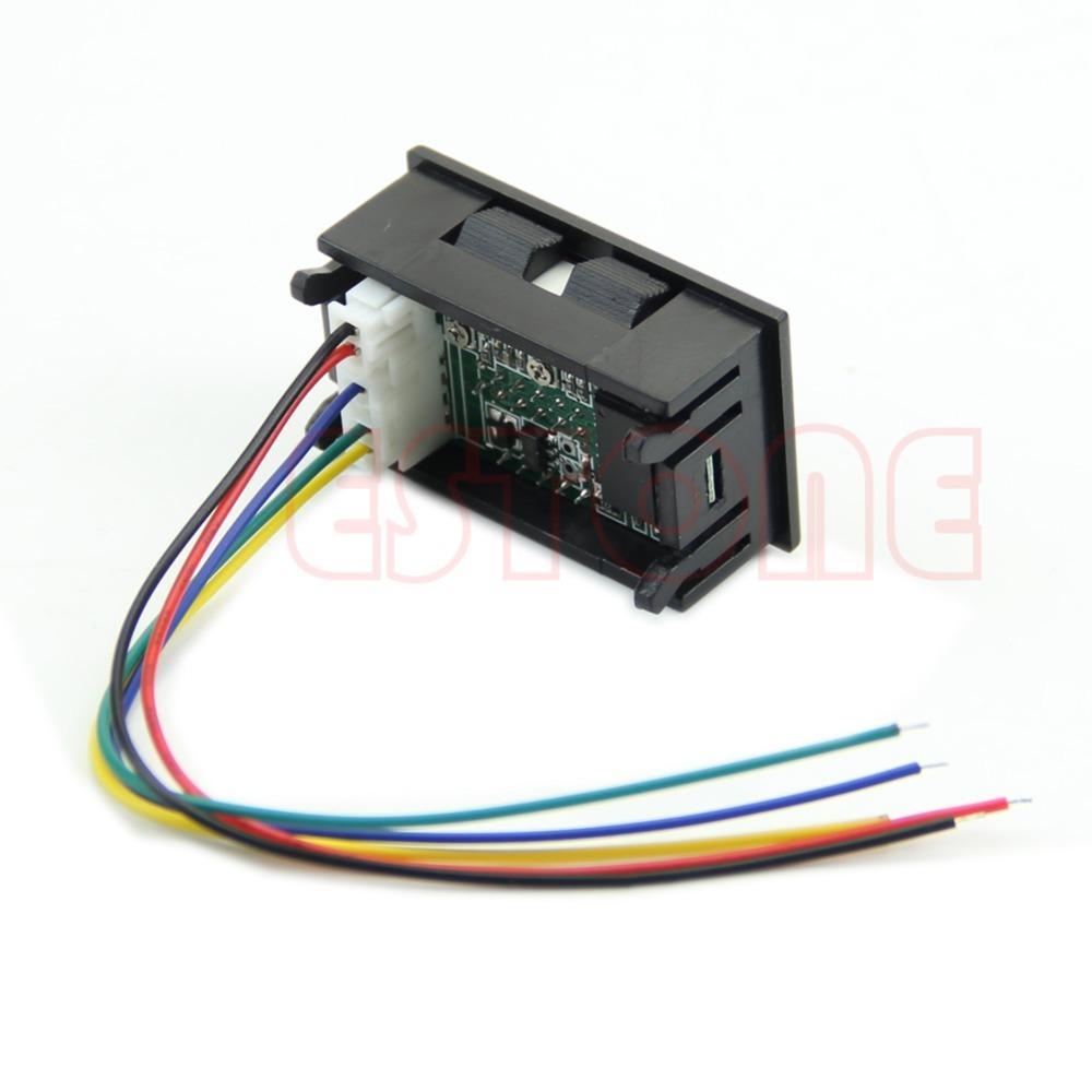 Dual LED Digital Voltmeter Ammeter Amp Volt Meter + Current Shunt DC 100V  50A Order<$18no Track Voltmeter Digital Shunt Voltmeter Sale Online with ...