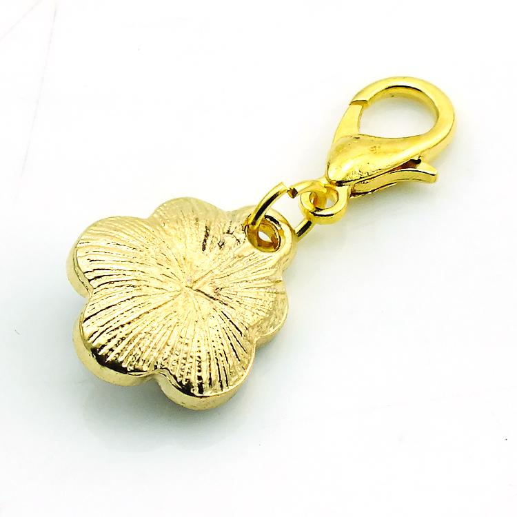Moda Flutuante Encantos Banhado A Ouro 3 Cores de Pérola Flor Fecho Da Lagosta Liga Encantos Pingentes DIY Jóias Acessórios