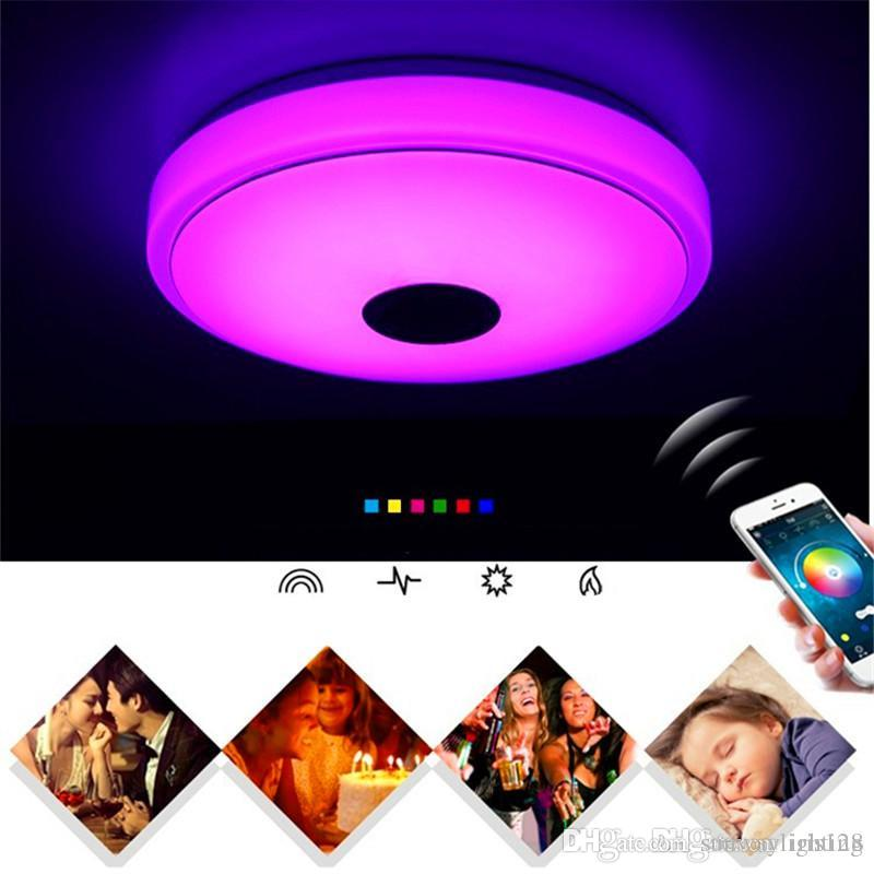 Bluetooth Smart Music Ceiling Phone Cell Phone APP Control Lighting  Colorful Disco Creative Lamp Living Room Bedroom Light
