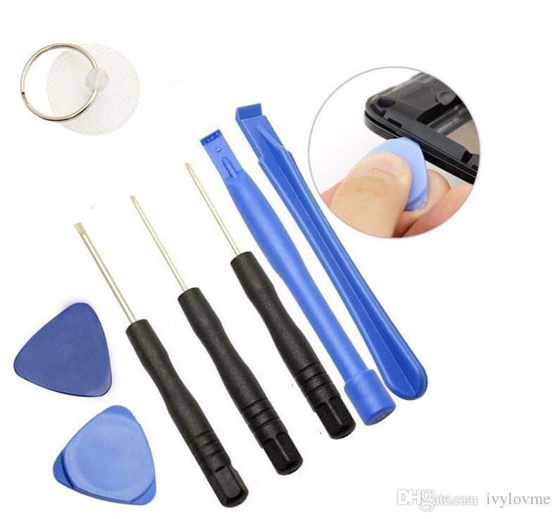 أدوات إصلاح الهاتف الخليوي 8 في 1 أدوات إصلاح Pry Kit افتتاح Pentalobe Torx مشقوق مفك لابل اي فون 4 4S 5 5S 6 الهاتف moblie