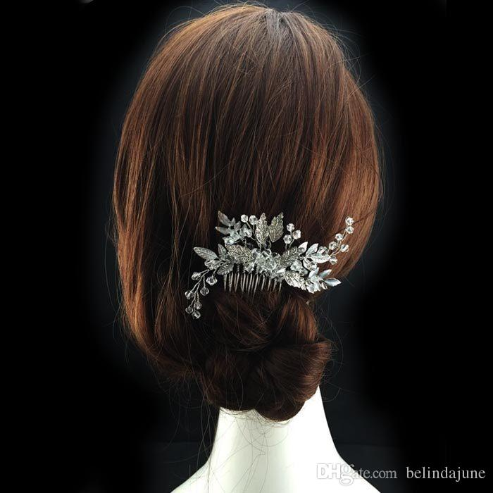 Crystal Beaded Bridal Hair Comb For Wedding Bridal Accessories Women Jewelry Headwear Headpieces Cheap Sale