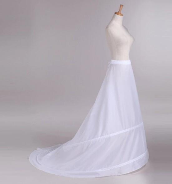 Anagua De Vestido Beautiful 2 Hoops Bridal Accessories Dress Petticoat Black Wedding Petticoat For Bride