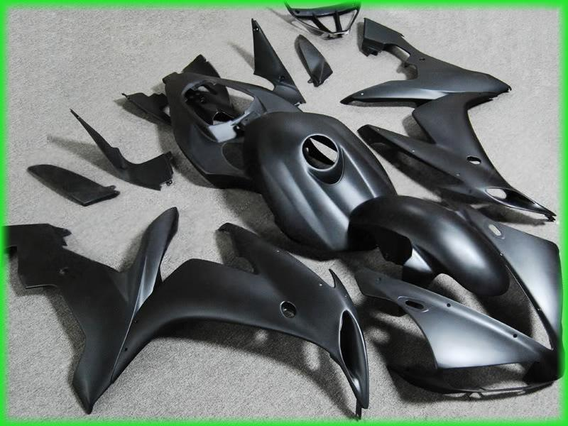 Kit de carénage de moto pour YAMAHA R1 2004 matte black yzf 2005 2006 R1 04 05 06 carénages kit de carrosserie route 46MB