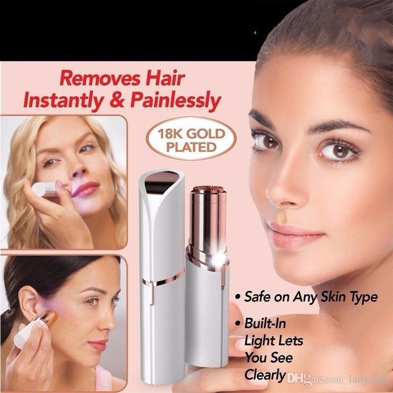 New Depilador Removedor de Pêlos de Cera de Barbear Remoção de Pêlos Facial Do Corpo Das Mulheres Ferramenta de Barbear Batom Indolor