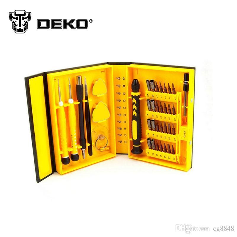 Deko Box 2019 deko 38 in 1 multi repair tool box magnetic opening tools kit