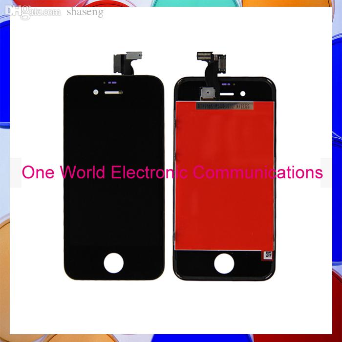 Wholesale-For Iphone 4 4G 4S LCD Screen Assembly LCD Digitizer Display Complete+Frame White or Black