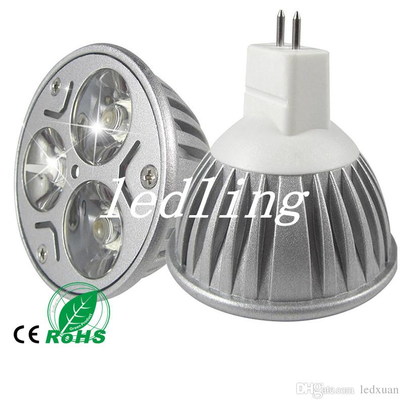 9W Dimmable LED Bulb Light GU10/MR16/E27/E14 LED Spotlights CREE LED Lights 3x3W AC 85-265V Energy-saving Bulb Led Light Bulb