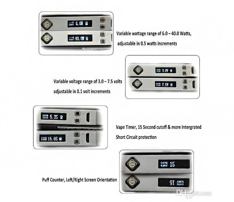 Orijinal Innokin CoolFire IV 40 W Pil Mod Serin Yangın IV Express Kiti 2000 mah Innokin Coolfire 4 Serin yangın 4 Kutu Mod DHL Ücretsiz