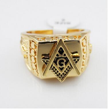 2018 Gold Rings Mens Rings Freemason Masonic Ring For Men