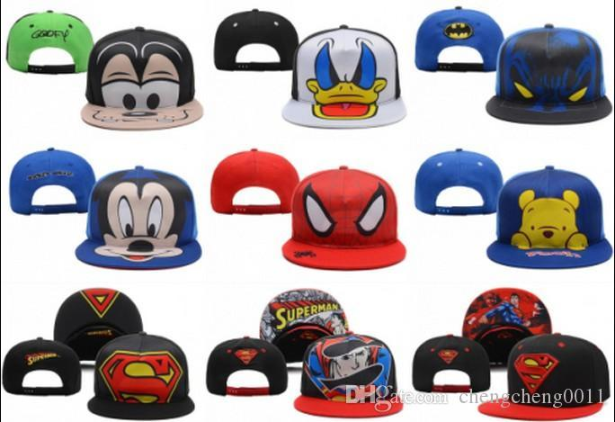 2019 Children S Boys Superman Spider Man Snapbacks Adjustable Ball Hats Hip  Hop Caps Kids Batman Mickey Mouse Sports Snapback Baseball Cap H From ... 009655af9a5f