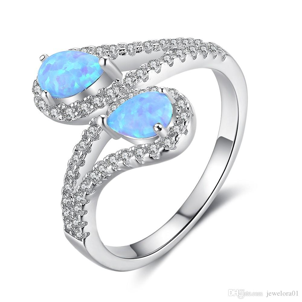 2019 925 Sterling Silver Rings Simulated Turquoise Opal Gemstone Rings Fashion Opal Jewelry For Women From Jewelora01 26 53 Dhgate Com