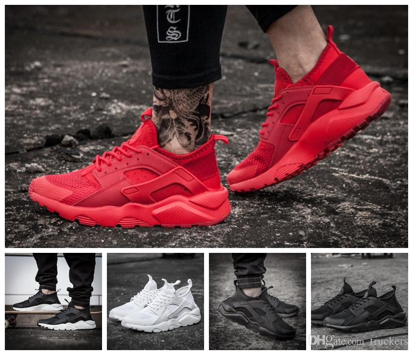 2017 New Design Air Huarache 4 Running Shoes All Red Mesh Huraches Ultra  Breathe For Men And Women Huaraches Sports Sneakers Size 36 46 Running  Shoes For ... 5f6323ed14e3
