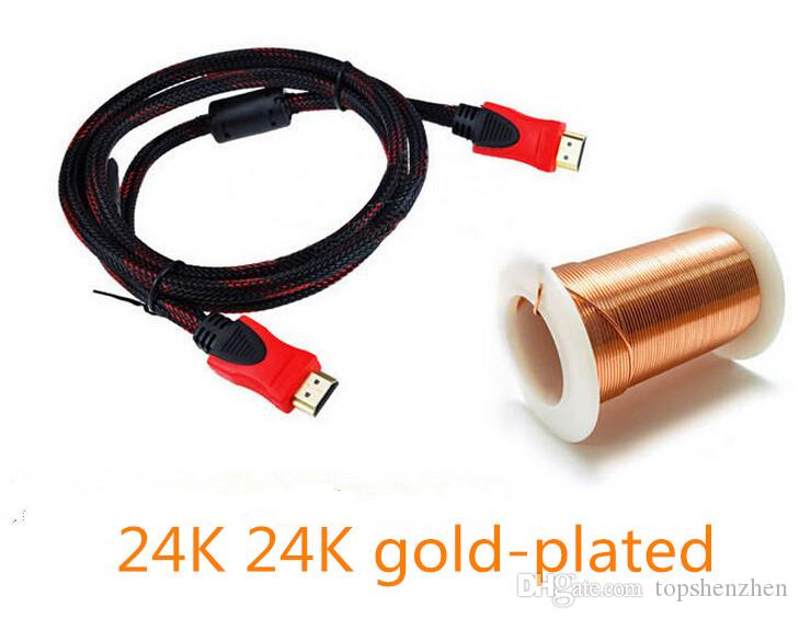 En İyi Kalite Altın Kaplama HDMI HDMI Kablosu Yüksek Hızlı 1.4 V 3D HDMI Kablosu 1.5 M 5FT Için 1080 P HDTV PS3 Xbox