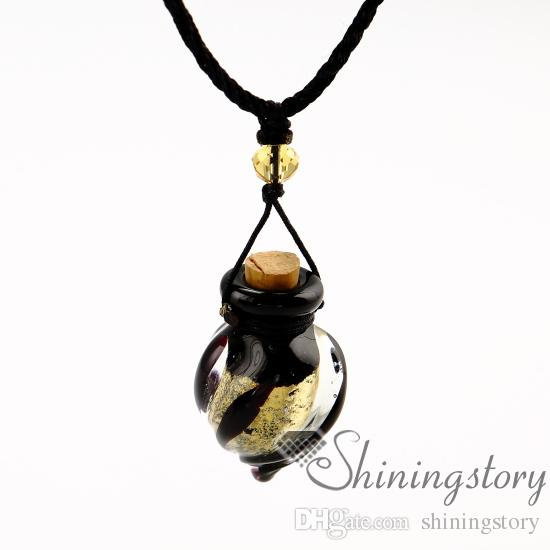 essential oil necklace diffusers lampwork glass perfume pendant diffuser aromatherapy necklaces