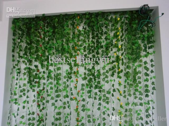 High Simulation Ivy Climbing Vines Green Leaf Artificial Silk Virginia Creeper Wall Decoration Home Decor