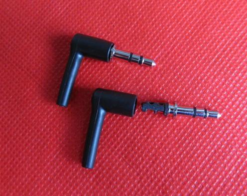 10 مجموعات / 1 حزمة جيدة diy الأسود 3 القطب 3.5 ملليمتر ذكر 90 درجة l- شكل ستيريو سماعة المكونات إصلاح سماعات جاك الصوت لحام