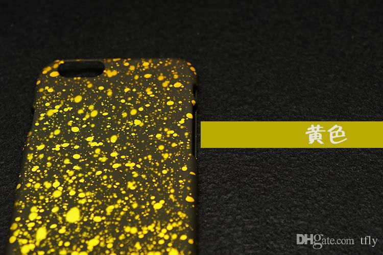 2015 el más nuevo para el iPhone 6 Plus 3D Funda rígida para PC Fluorescence Star Night Sky Matting Tapa trasera para iPhone 4S 5 5S