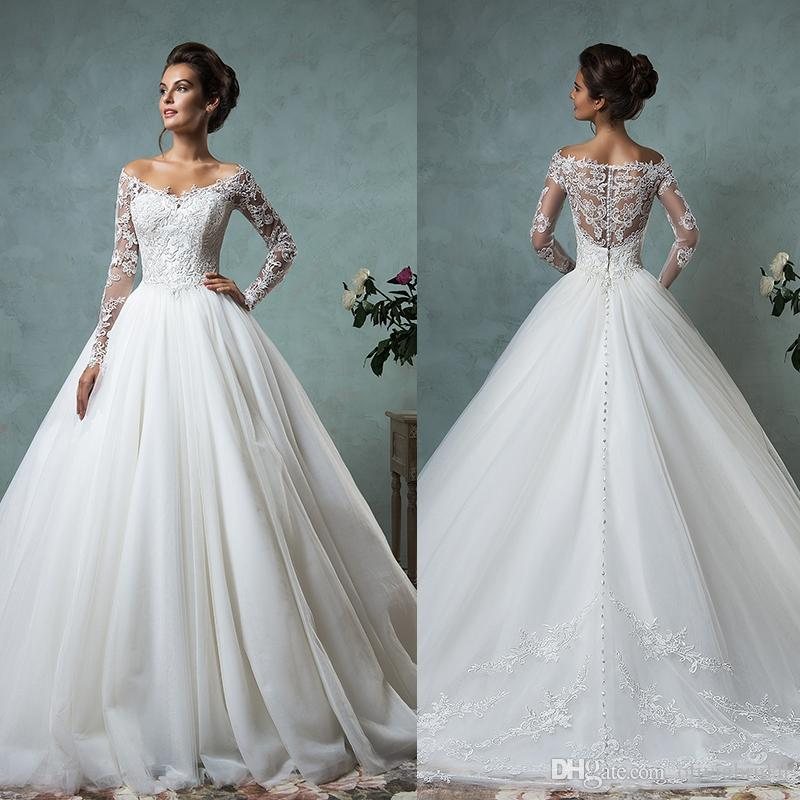 Princess Style Wedding Gowns: Discount Amelia Sposa 2016 Wedding Dresses Princess Style