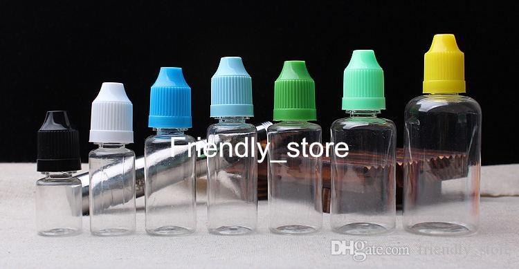 Colorful PET 15ml Plastic Bottles Wholesale Empty 15 ml E Vapor Cig Liquid bottles With Childproof Tamper Cap And Long Thin Tips