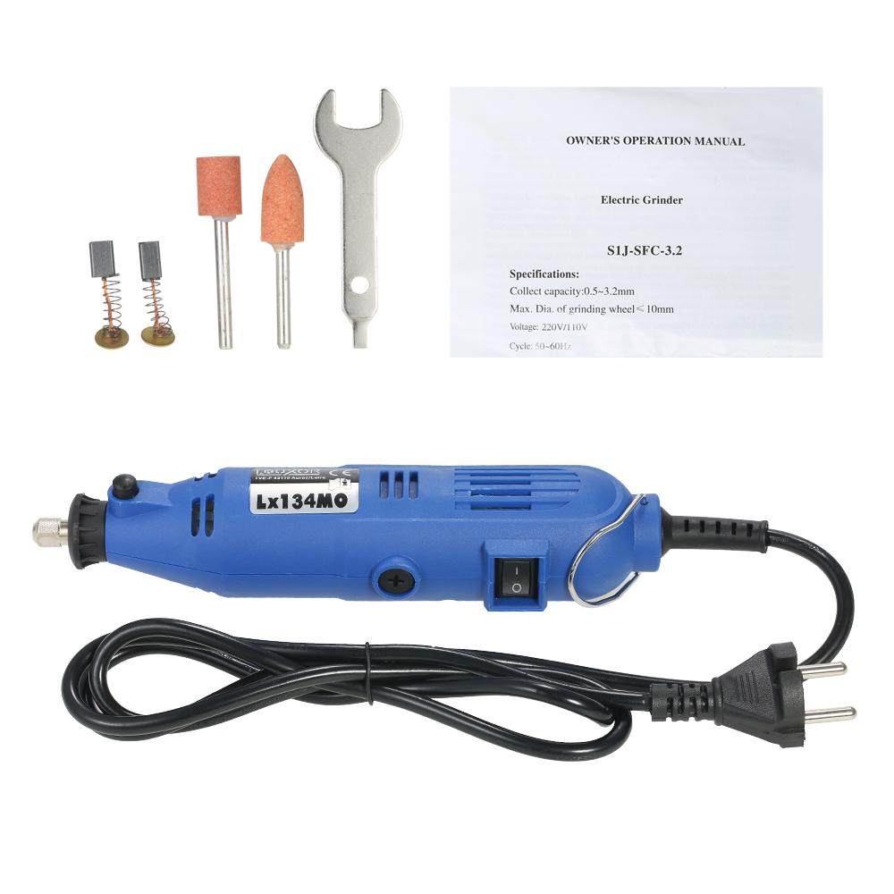 180W AC220V Electric Grinder mini engraver Dremel Drill Variable Speed grinding Machine Rotary Tool for for Polishing Engraving