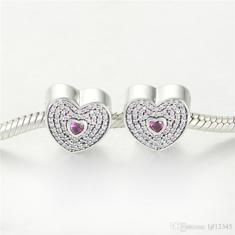 Fits Pandora New 925 Sterling Silver Beads Key & Lock DIY Charms Fshion Jewelry Charm European Style Bracelets