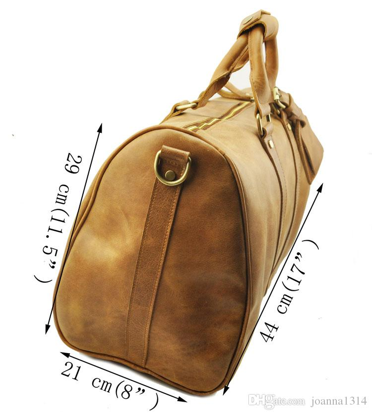 Man Weekend Bag Duffel Bag Crazy Horse Leather Man Luggage Bag Best Quality Design Hot Sales New Arrival