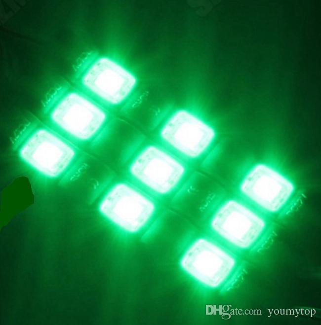 Novo 5050 3 LEDs Módulos de Luzes Com Tampa Lente Injeção À Prova D 'Água ABS Led Luzes Módulos 12 V Melhor Para Billboard Backlight