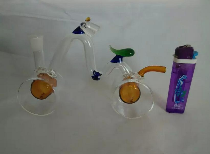 wholesalers ----- 2015 new stained glass hookah / glass bong, bicycle styles, Gift accessories