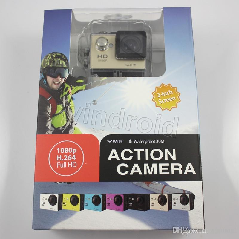 W9 Wifi 30M Waterproof Sports Action Video Camera Camcorder 170 Degree Angles HDMI 2 inch full HD 1080P Free DHL