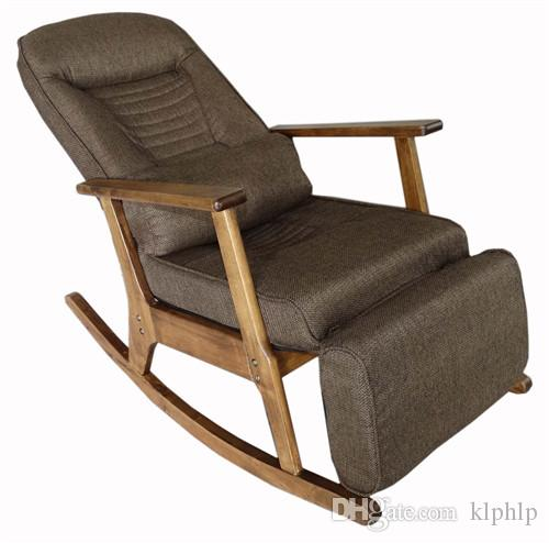 2018 Garden Recliner For Elderly People Japanese Style Chair Recliner Chair  With Footstool Armrest Modern Indoor Wooden Rocking Chair From Klphlp, ...