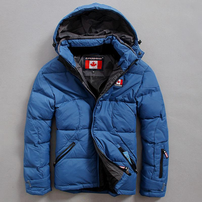 Europe CANADIENS Brand Down Coats for Men Canadian Flag Outdoor ...