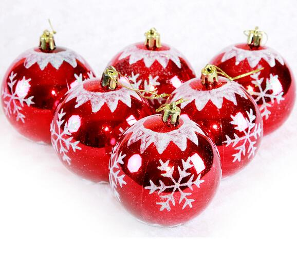 8 Cm A Variety Of Types Christmas Decorations Painting Balls Festival Party Supplies Tree Pendant Large For Sale