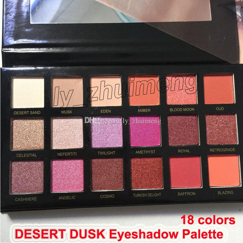 New Desert Dusk eyeshadow palette 18 colors Shimmer Matte Beauty eye shadow palette Pro Eyes Makeup Cosmetics free shipping