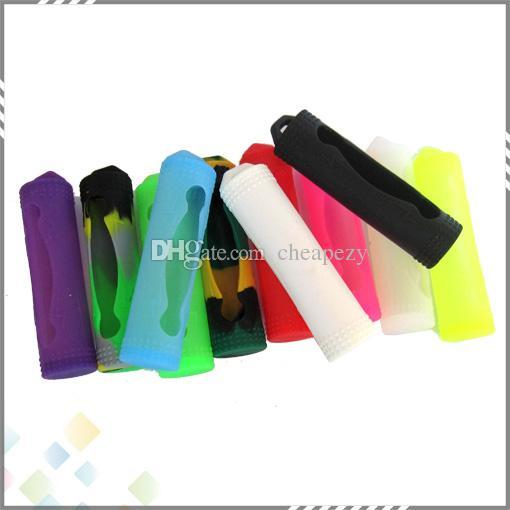 Cassa del silicone del 18650 Cassa del silicone della batteria Case del silicone della borsa della scatola di copertura colorata la batteria Sony Samsung VTC4 VTC5 LG He4 Panason Mod Batteria