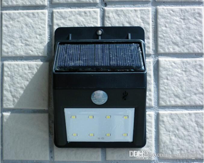 Außentreppen Beleuchtung | Grosshandel Sonnenenergie Lampe 8 Led Pir Bewegungs Sensor Licht Fur