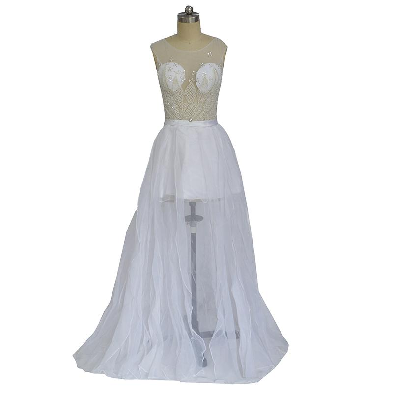 Vestidos De Noivas Para Casamento Arabic Style Evening Dresses Long White Formal Dress Prom Gown 2018