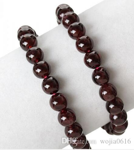 Freies Verschiffen neue Naturstein Dark Red Granat Runde Lose Perlen 16