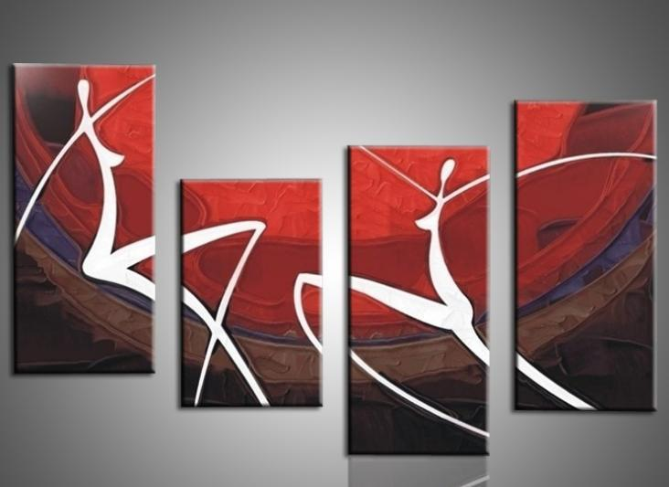 Modern Elegant Wall Decor : Hand painted oil painting elegant modern canvas art for