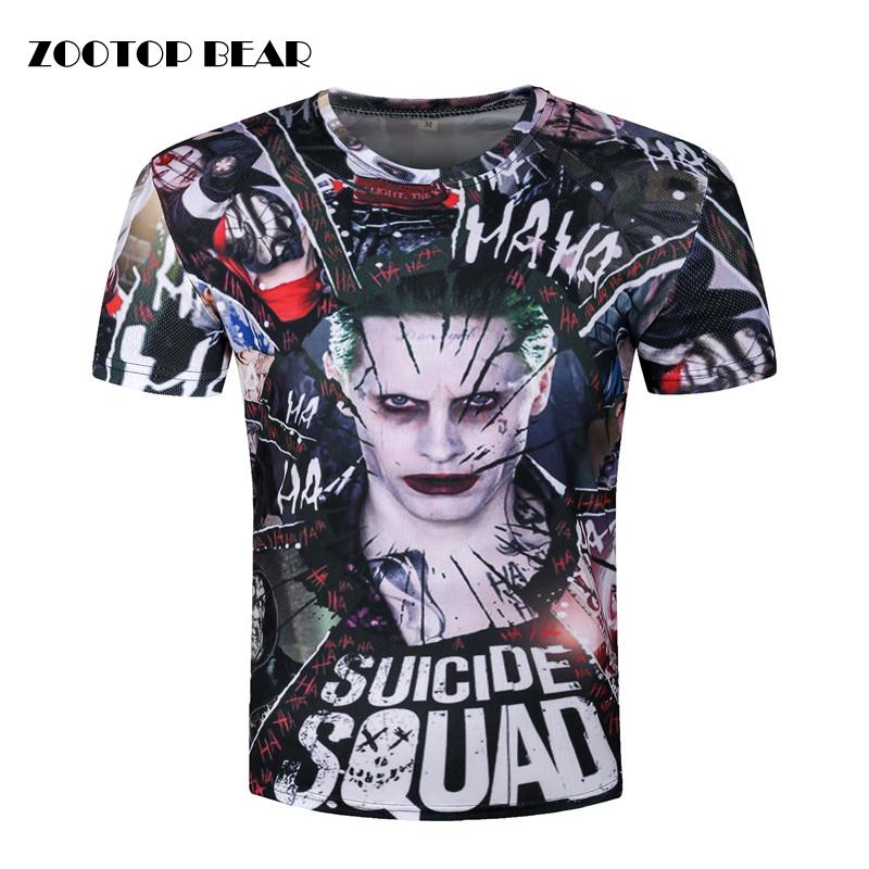 06d878d30177 X201711 Joker 3d T Shirt Men Suicide Squad T Shirts Hip Hop Funny Tops  Harley Quinn Short Sleeve Camisetas Fashion Novelty ZOOTOP BEAR Funny Shirt  Cotton T ...