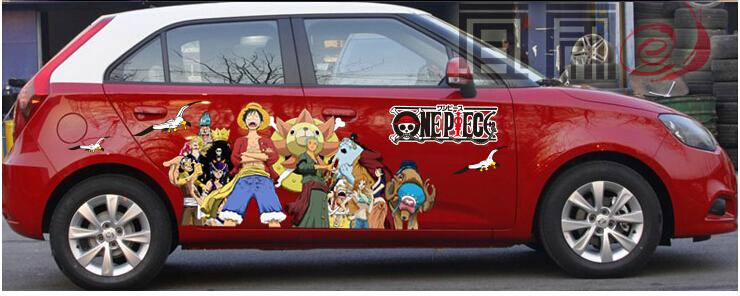 2018 itasha anime one piece car stickers monkey d luffy car vinyl sticker luffy whole car vinyl decal from monica9025 68 79 dhgate com