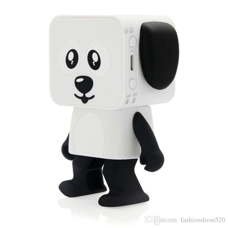 Hot sale Dog Robot Speaker Dancing Bluetooth Portable Speakers Wireless Cartoon Cute Stereo Bass Hands-free Phone Function Speaker toy