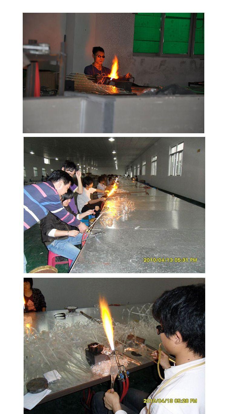 OEM 입 블로운 붕규산 램프 Sconce 공예 빨간색 유리 벽 램프 중국 예술 공예품