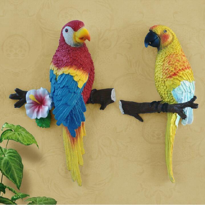 Large paper mache,Hanging Bird Parrot,Toucan,Home decor,Folk art ...