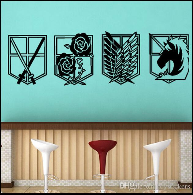 Decal Removable Home Decor Vinyl Decal Cartoon Attack On Titan