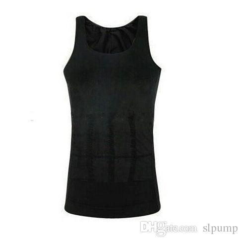 free DHL PLUS SIZE Men's Slimming lift vest corset Body Shaper Belly Fatty Underwear Vest Shirt Corset Compression