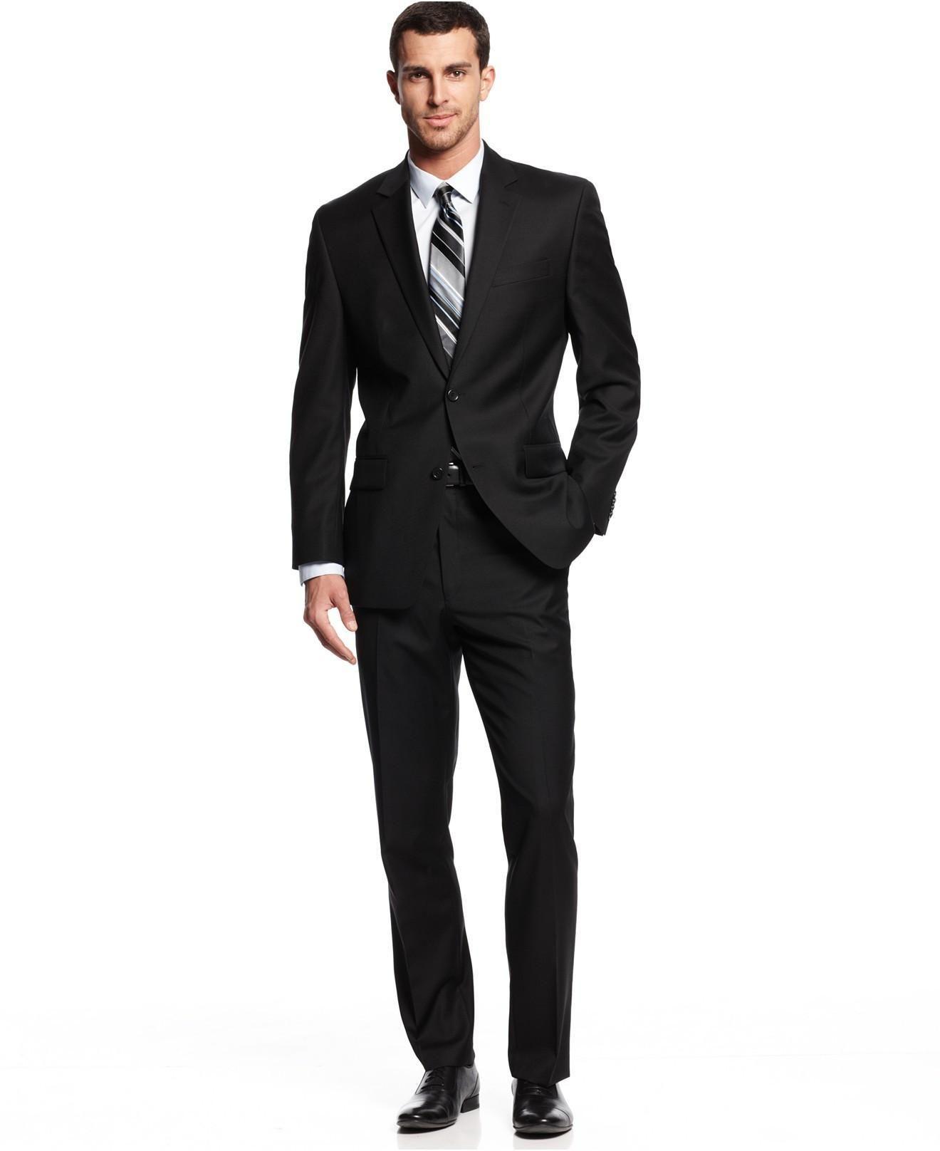 Latest Two Piece Suit Men Black Suit Design Custom Suits The Groom ...