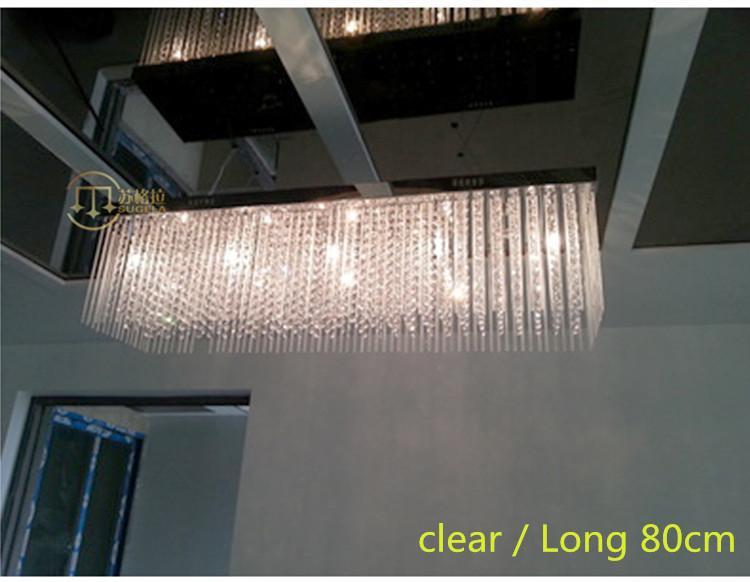 100cm long hanging glass chandelier crystal light for Restaurant led star light dining room Restaurant Led pendant lamp lustres de cristal