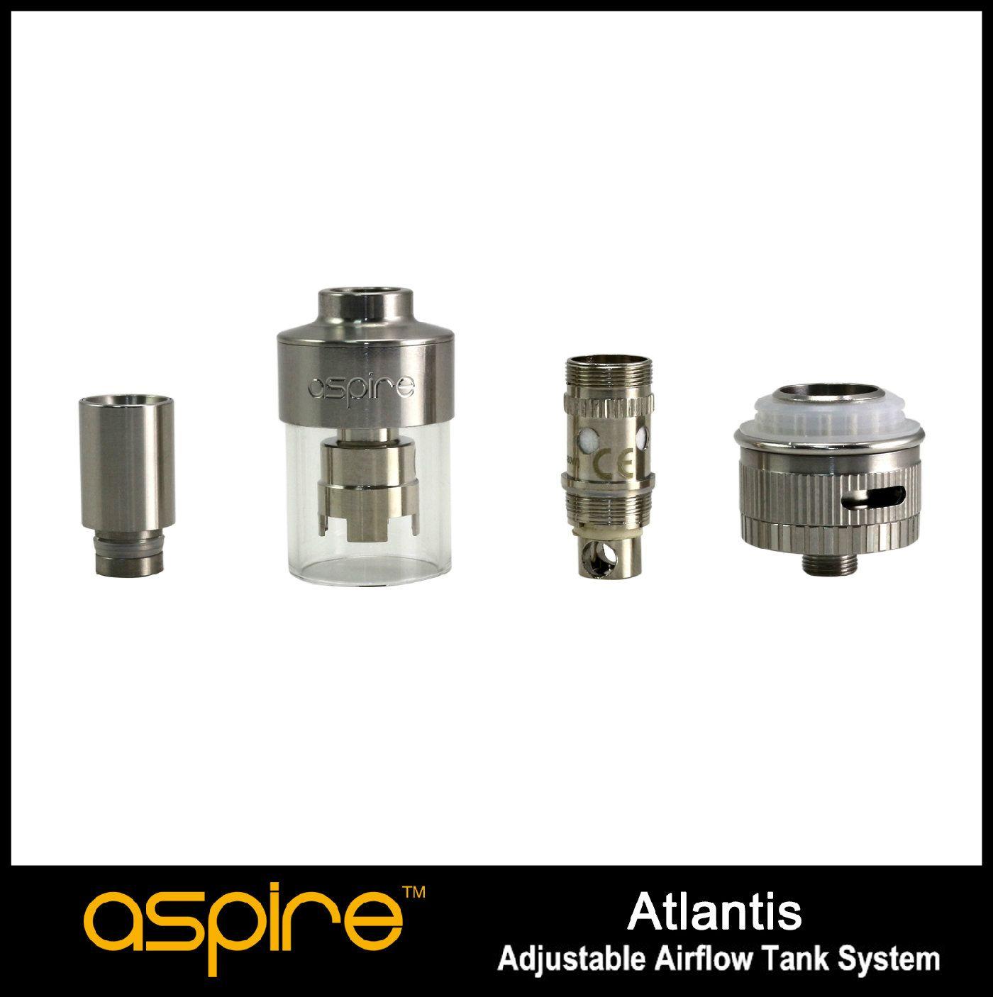 % 100 Orijinal Aspire Atlantis tankı yeni yükseklikleri Sub Ohm 0.5ohm bobin büyük buhar daha iyi tat için çıtayı yükseltti