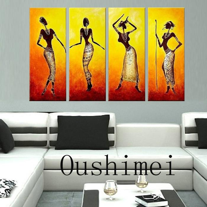 2018 Hand Painted Picture India Dancer Paintings On Canvas Oil